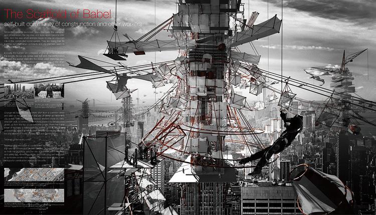 The Scaffold of Babel / Yutan Sun, Tongda Xu, Luojia Zhang, Dinglu Wang, Tianjun Wang. Cortesia de eVolo