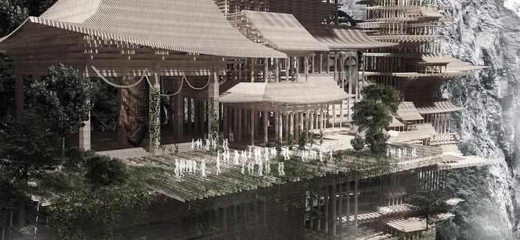 Vertical Traditional Chinese Village / Zhang Bo, Liu Shuman. Cortesia de eVolo