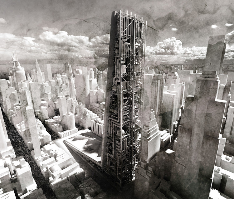 Sustainable Urban Mining Factory Skyscraper / Maciej Kasperek. Image Courtesy of eVolo