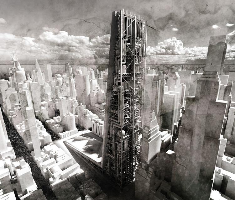 Sustainable Urban Mining Factory Skyscraper / Maciej Kasperek. Cortesia de eVolo