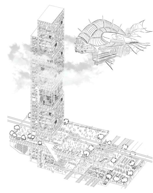 Acupuncture of Urban Traffic Structure / Kristina Rykova. Cortesia de eVolo