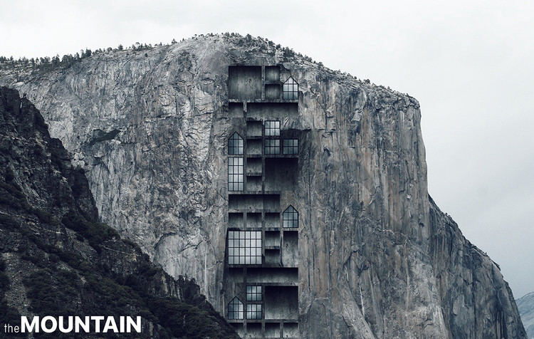 Mountain Skyscraper in Yosemite / Ryan Ibarra. Image Courtesy of eVolo