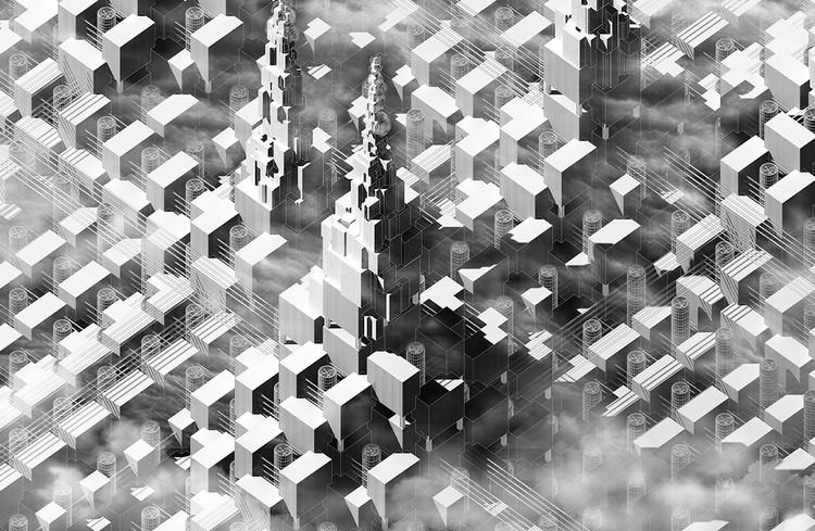 The Forgotten Memorials: The Utopian Future of Urbanization / Zhonghan Huang, Wen Zhu. Cortesia de eVolo
