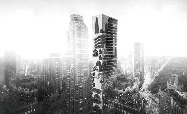 Arch Skyscraper / Wenjia Li, Ran Huo, Jing Ju. Cortesia de eVolo