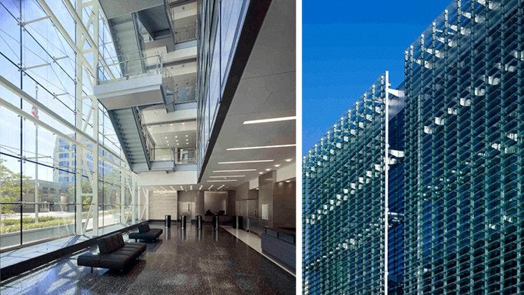 D.C. Consolidated Forensic Laboratory in Washington, D.C. Image Courtesy of HOK (left) & © Alan Karchmer / HOK (right)