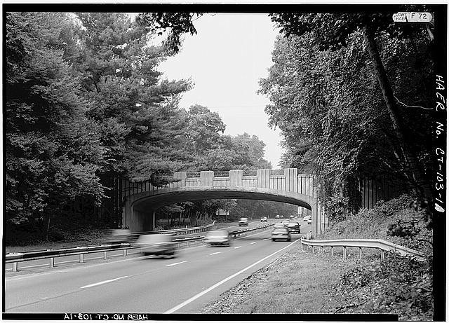 The Merritt Parkway. Image <a href='http://www.loc.gov/pictures/item/ct0524.photos.022964p/'>via Library of Congress</a>