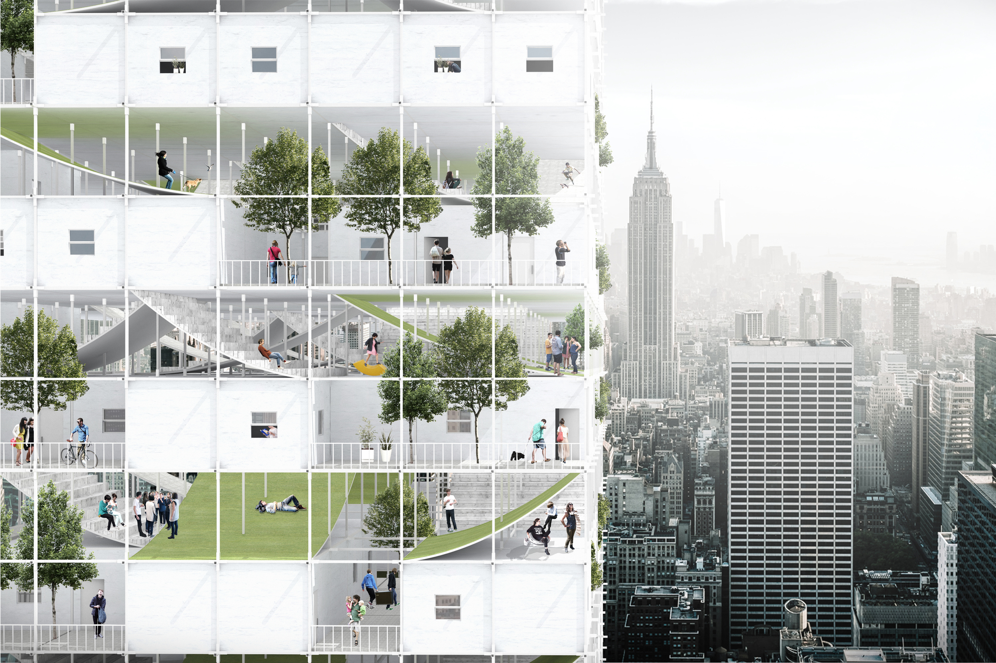 gallery of speculative project seeks to take advantage of