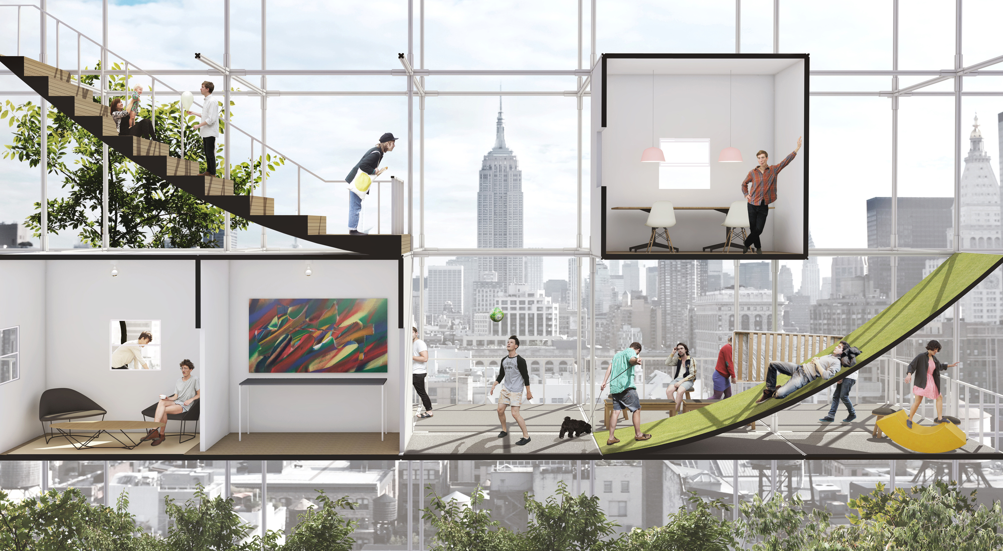 Speculative project seeks to take advantage of nyc air rights for affordable housing archdaily - Housessquare meters three affordable projects ...