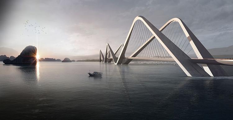 TU LIEN BRIDGE; Ha Noi, Vietnam / WATG. Image Courtesy of The American Architecture Awards