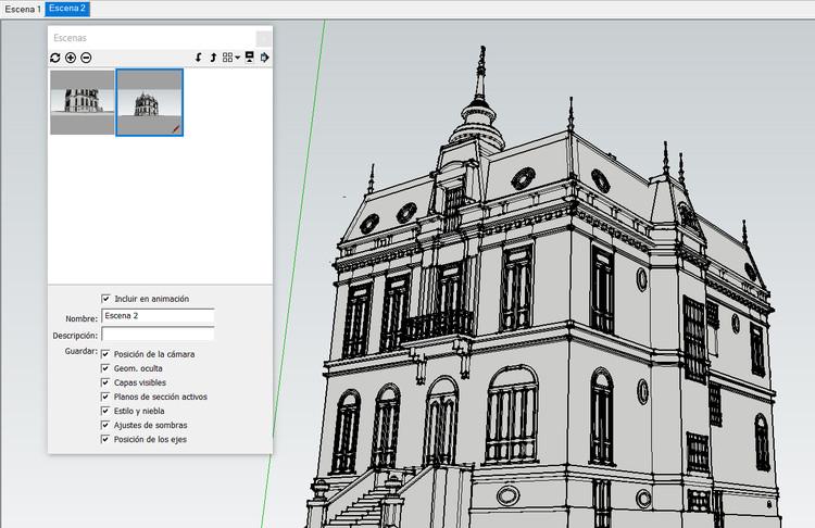 Modelo 3D: Fabián Dejtiar via SketchUp.