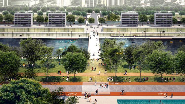 Parques latentes em São Paulo / Eloísa Balieiro Ikeda, Proposta de projeto para a raia olímpica da Cidade Universitária em São Paulo. . Image © Bhakta Krpa
