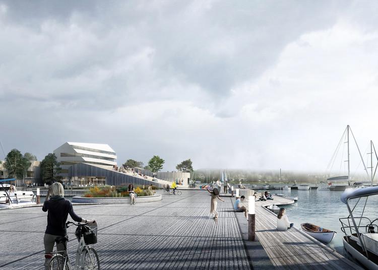 Proposta vencedora de Schauman & Nordgren Architects para revitalização de área portuária, © Schauman & Nordgren Architects