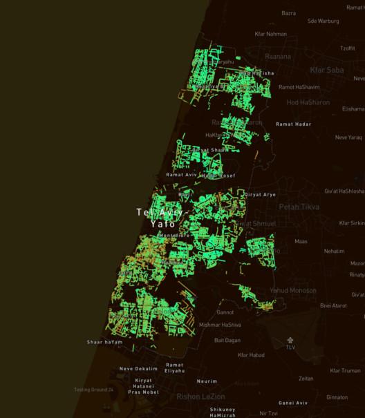 Treepedia Tel Aviv. Image Courtesy of MIT Senseable City Lab