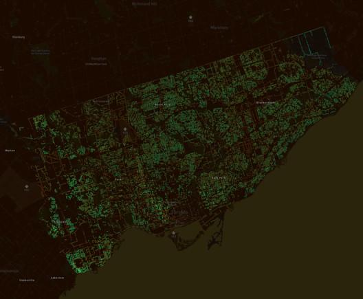 Treepedia Toronto. Image Courtesy of MIT Senseable City Lab