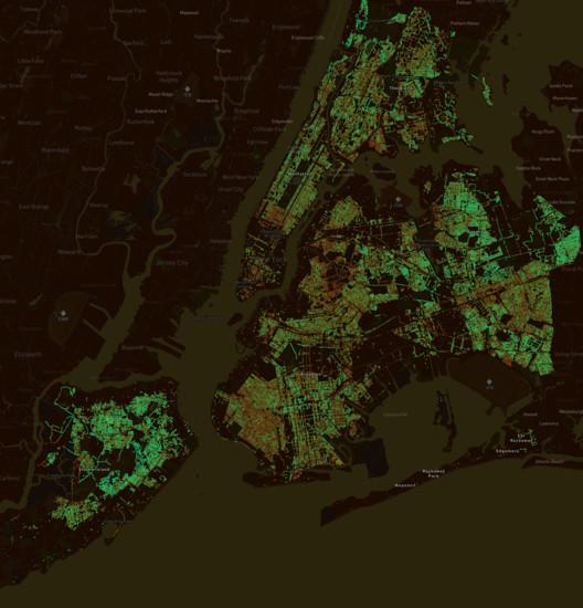 Treepedia New York City. Image Courtesy of MIT Senseable City Lab