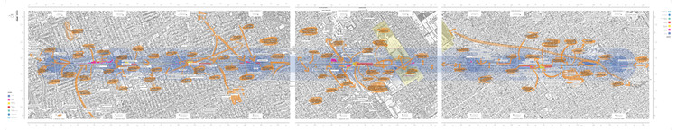 Map of intervention suggestions from the NGV exhibition. Image Courtesy of LEFT UNDER