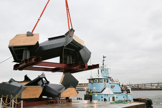 The first piece in transit. Image © Related-Oxford