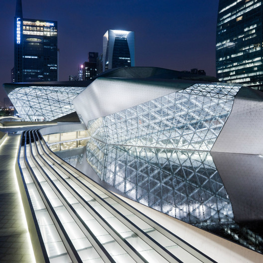 Guangzhou Opera House / Zaha Hadid Architects; Shortlisted - Culture, 2011. Image Courtesy of World Architecture Festival