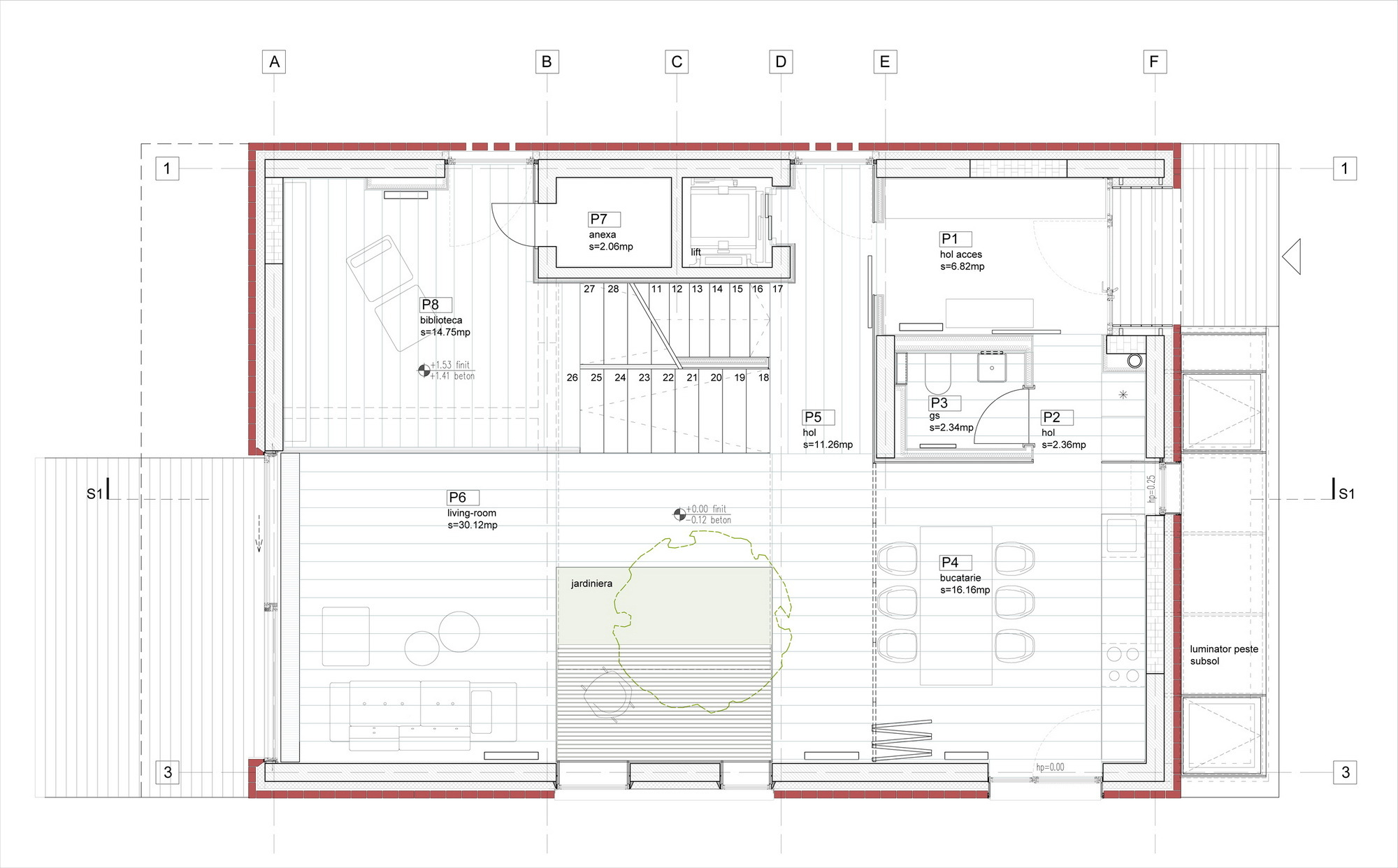 gallery of single family house tolstoi str outline ground floor plan
