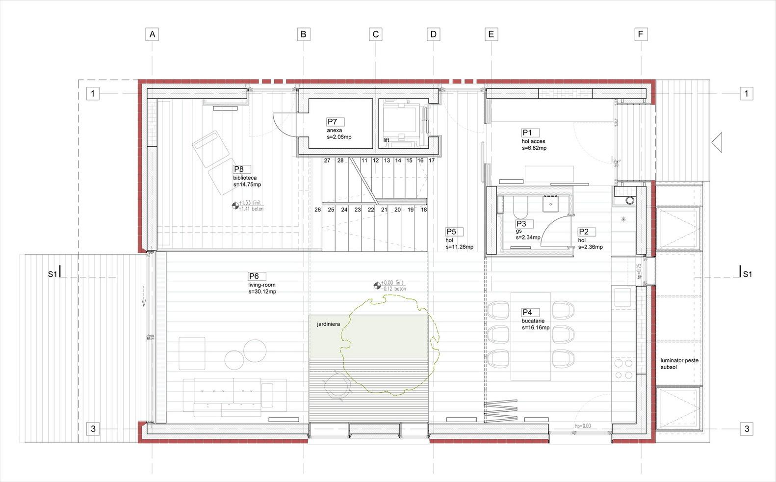 gallery of single family house tolstoi str outline single family house tolstoi str ground floor plan