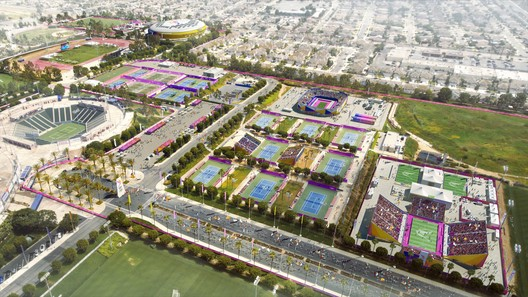 South Bay Sports Park - Field Hockey & Tennis. Image Courtesy of LA 2024