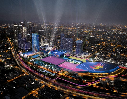 Downtown Sports Park - LA Live Aerial. Image Courtesy of LA 2024