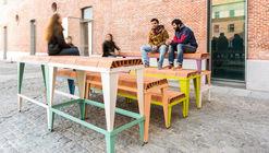 Estas piezas cerámicas industrializadas generan mobiliarios urbanos variables, por ENORME Studio