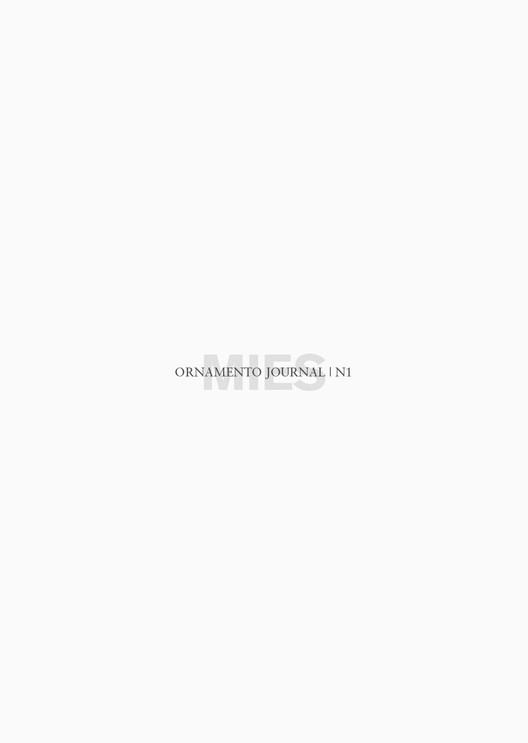 Ornamento Journal #1 MIES / Ediciones Asimétricas