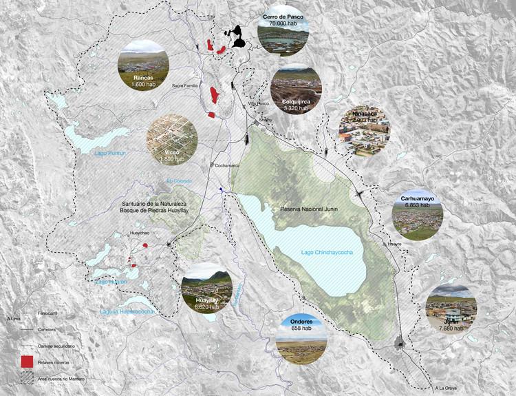 Mapa Pueblos y Ciudades. Image Cortesía de Gabriel Vergara