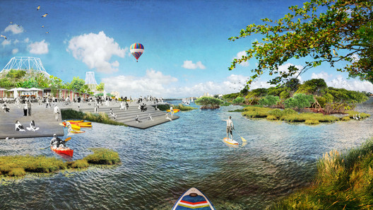 Design Winner: Open Shore / Ecosistema Urbano. Image Courtesy of The Van Alen Institute and the West Palm Beach Redevelopment Agency (WPB CRA)