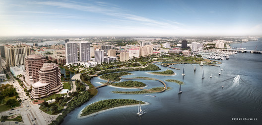 Design Finalist: Adapt to Thrive / Perkins + Will . Image Courtesy of The Van Alen Institute and the West Palm Beach Redevelopment Agency (WPB CRA)