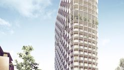 C.F. Møller Wins Competition for Hybrid-Structure High-Rise in Sweden