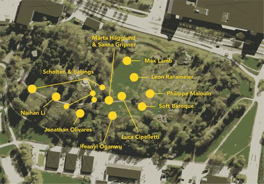 Plan of SUPERBENCHES in Kvarnbacken Park. Image Courtesy of Kalejdohill