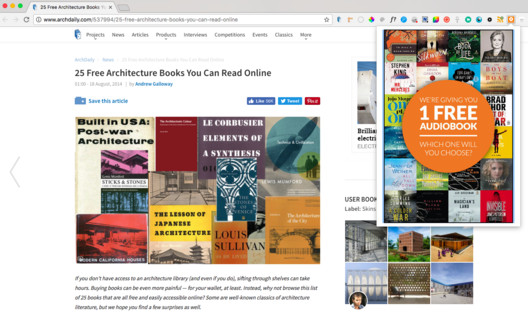 Audio Books Chrome Extension. Image