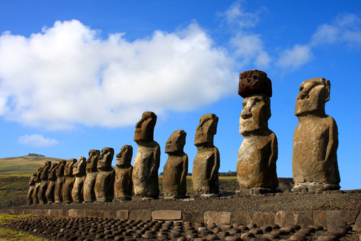 The original Easter Island statues © Flickr user jzielcke. Licensed under CC BY-NC-ND 2.0