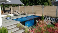 Recycled Shipping Containers as Backyard Swimming Pools