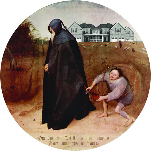 The Architect, after The Misanthrope, by Pieter Bruegel the Elder, 1568, from Atlas of Another America, Park Books, 2016. Image Courtesy of Keith Krumwiede
