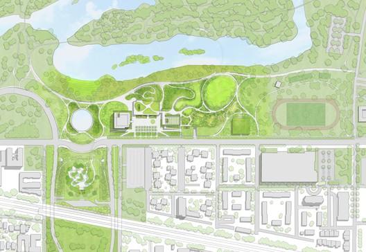 Conceptual Site Plan. Image Courtesy of Obama Foundation