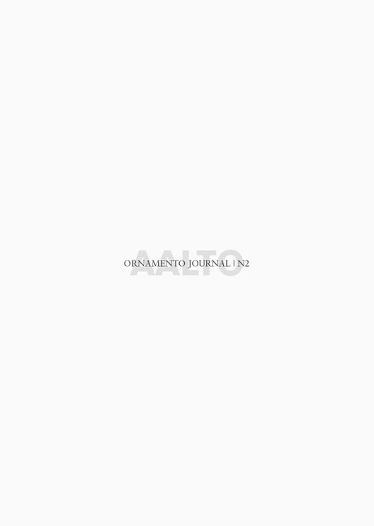 ORNAMENTO JOURNAL #2 AALTO / Ediciones Asimétricas