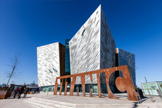 The Titanic Centre, Belfast © Flickr user placeni. Licensed under CC BY-NC-ND 2.0)