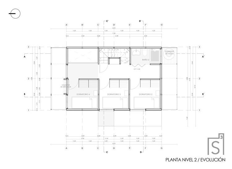 Planta segundo piso (evolución)