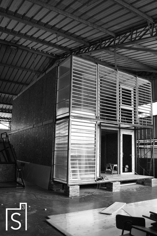 Casa S3 en construcción. Image Cortesía de Taller 1/1