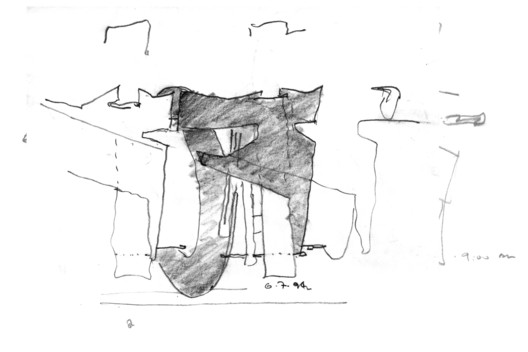 Diamond Ranch High School (sketch), 2000. Image © Brandon Welling