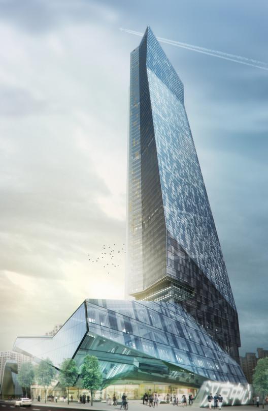 Hanking Center Tower in Shenzhen. Image Courtesy of Morphosis