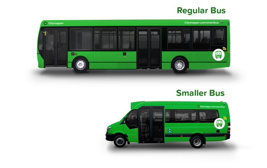 Citymapper's new buses in central London. Image Courtesy of Citymapper