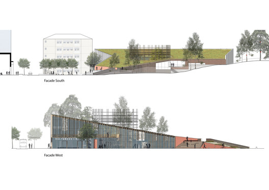 South and west elevations. Image Courtesy of Sweco