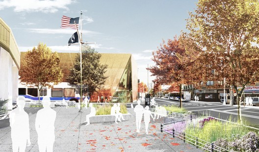 Downtown Far Rockaway Streetscape / W Architecture and Landscape Architecture. Image Courtesy of NYC Office of the Mayor