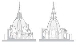 Tarragona, España: Restauración del campanario y bóveda principal de la Iglesia del Sagrat Cor de Jesús