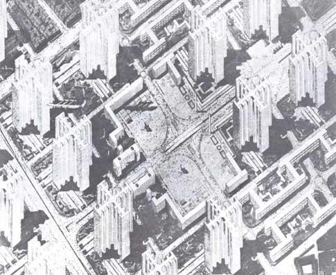 Ville Radieuse. Image <a href='http://land8.com/'>via land8.com</a>