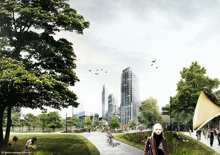 DELVA Landscape Architects to Revive The Hague's Historic Centre With Interconnected Urban Greens , via DELVA Landscape Architects / Urbanism